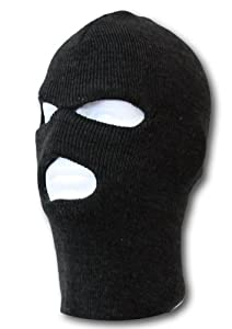 Face Ski Mask 3 Hole (More Colors)- Black