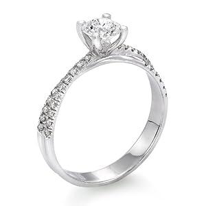 Zertifikat Klassischer 18 Karat (750) Gelbgold Damen - Diamant Ring Round 0.62 Karat D-SI3 (Ringgröße 48-63)