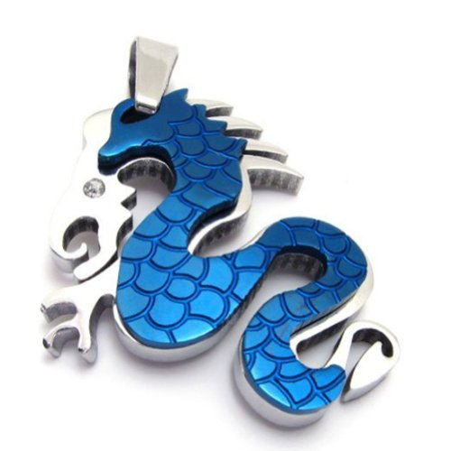 316L Stainless Steel Men's Pendant Necklace Dragon