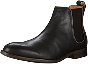 Aldo Men's Merin Chelsea Boot, Black Leather, 14 D US
