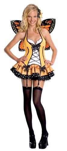 Secret Wishes  Fantasy Butterfly Costume, Orange, Small