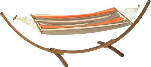 11194 tres arc set holzgestell fsc holz mit stabh ngematte miss brasil braun orange. Black Bedroom Furniture Sets. Home Design Ideas