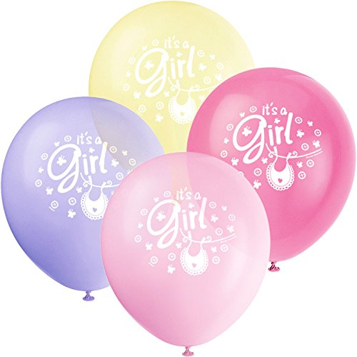 "8 12"" Pink Clothes ( Clothesline ) Latex Baby Shower Balloon - Girls Baby Shower Balloon - 1"