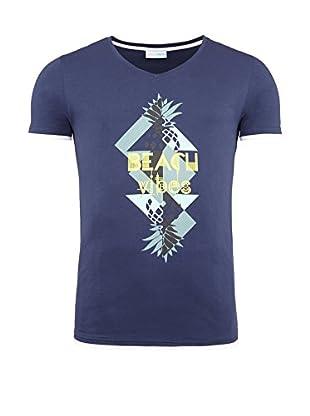 SUMMERFRESH Camiseta Manga Corta California (Azul Oscuro)
