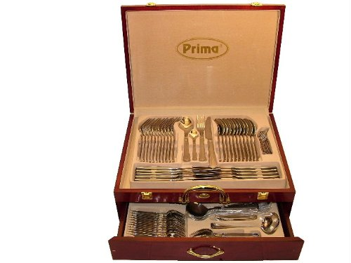 Prima Henley Balmoral 95-Piece Cutlery Set in Wooden Presentation Case 14080C