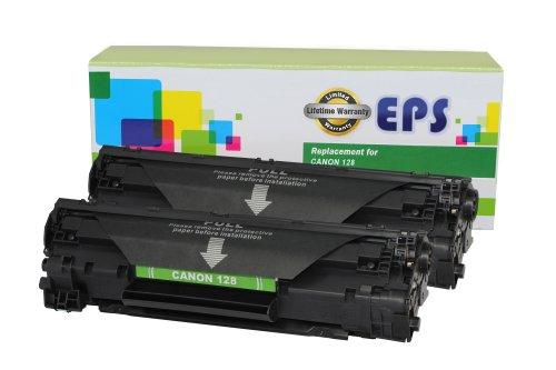 EPS Replacement 2 Pack Canon 128 Black toner Cartridges