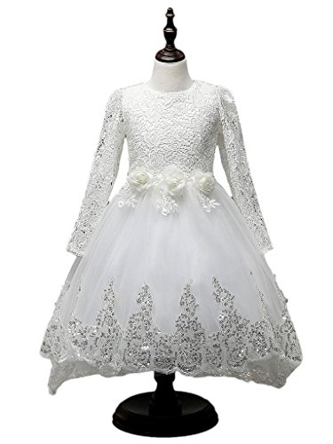 I'MQueen Kids Vintage Style Flower Girl Off White Pageant Lace Prom Dresses (Lil Girls Prom Dresses compare prices)