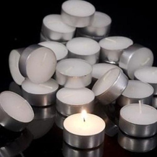 Cole & Bright Outdoor & Indoor TeaLights Candles 4 Hour 12.5mm x 38mm (Box of 50) White