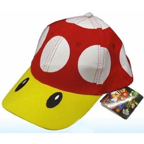 Super Mario Bros Red Mushroom Baseball Hat