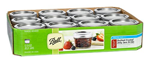Ball Mason 4oz Quilted Jelly Jars with Lids and Bands, Set of 12 (Little Freezer compare prices)
