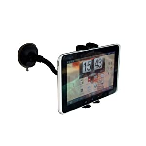 Navitech Goose Neck Firm Grip Windscreen Mount Hold For The SKYTEX Skypad Alpha 7-Inch Touch Screen Cortex-A8 Tablet
