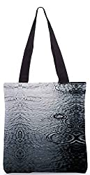Snoogg Water Droplets Poly Canvas Tote Bag