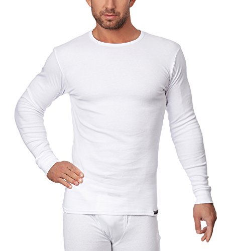 Sesto Senso Maglietta manica lunga per uomo (Bianco, L)