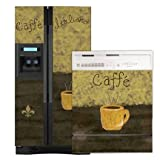 Appliance Art Caffe Refrigerator and Dishwasher Combo Magnet (SXS) Cover ~ Evaluestores