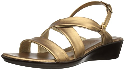 Italian Shoemakers Women's 200m Wedge Sandal, Bronze, 8 M US (Italian Shoes For Women Wedge compare prices)