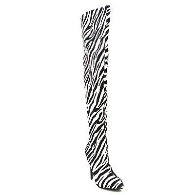 furge02 thigh high boots zebra furge02c