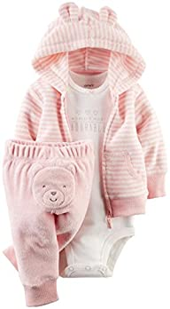 Carter's Baby Girls' 3 Piece Terry Ca…