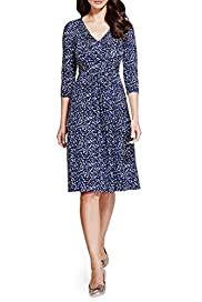 Per Una Abstract Spotted Fit & Flare Dress [T62-6643J-S]