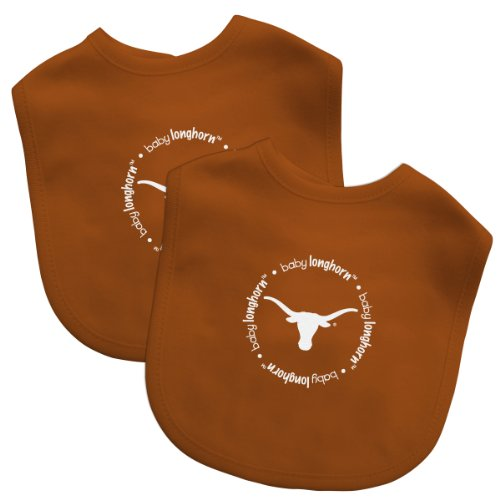 Baby Fanatic Team Color Bibs, University of Texas, 2-Count - 1