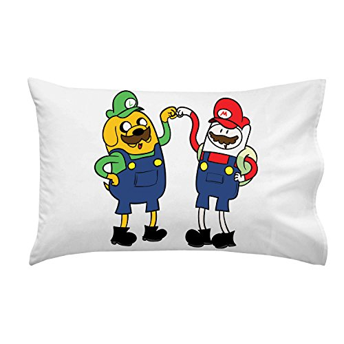 """Plumbing Time"" Best Friend Main Characters Funny Video Game & Tv Show Cartoon Parody - Pillow Case Single Pillowcase front-903363"