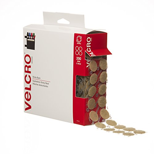 "Best Deals! VELCRO® Brand  - Sticky Back  - 3/4"" Coins, 200 Sets - Beige"