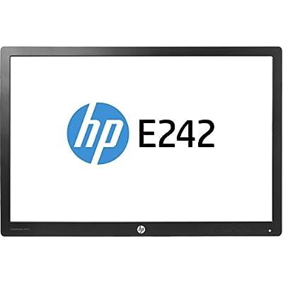 HP N0Q25AA#ABA EliteDisplay E242 24'' 1080p Full HD LED-Backlit LCD Monitor, Black