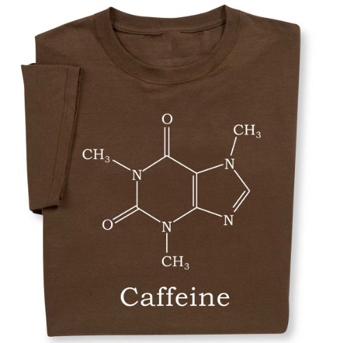 Caffeine Molecule T-Shirt, X Large