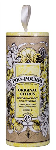 Poo Pourri Toilet Paper Tube Classic Original Citrus 1.4 oz. Gift Set Ornament