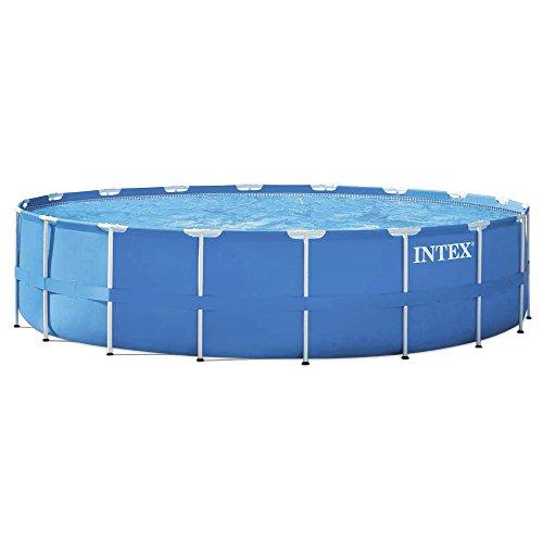 Intex 28252 metal frame set piscina fuori terra rotonda - Piscine fuori terra amazon ...