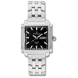 Men's Square Sartego Land Master Watch Black Dial