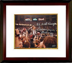 Gene Stallings signed Alabama Crimson Tide 16x20 Photo 92 Natl Champs Custom Framed-... by Athlon+Sports+Collectibles