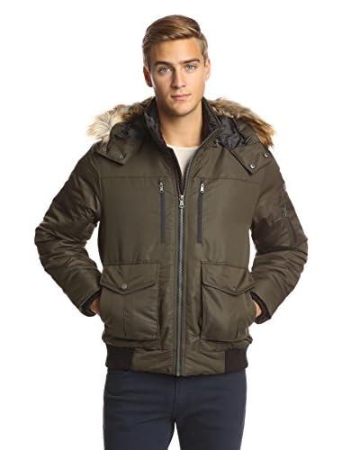 Sean John Men's Nylon Puffer Bomber Jacket