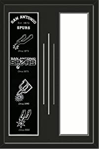 San Antonio Spurs & Your Choice of other Team Heritage Banner Framed-House... by Art and More, Davenport, IA