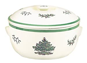 #!Cheap Spode Christmas Tree Round Covered Deep Dish Casserole