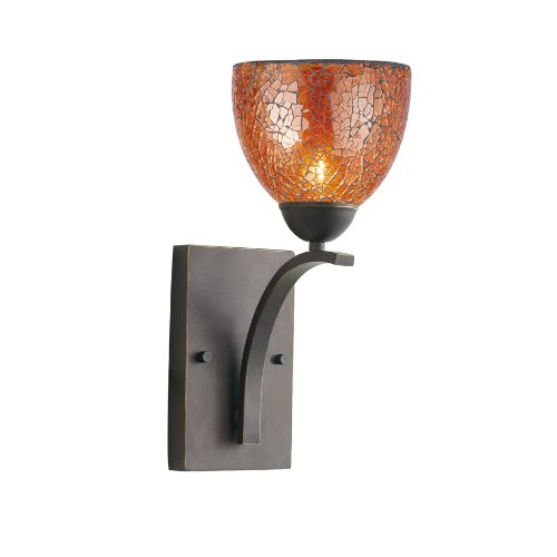 Woodbridge Lighting 13051MEB-M21AMB North Bay 1-Light Wall/Bath Sconce, 6-Inch by 13-3/4-Inch by 8-Inch, Metallic Bronze