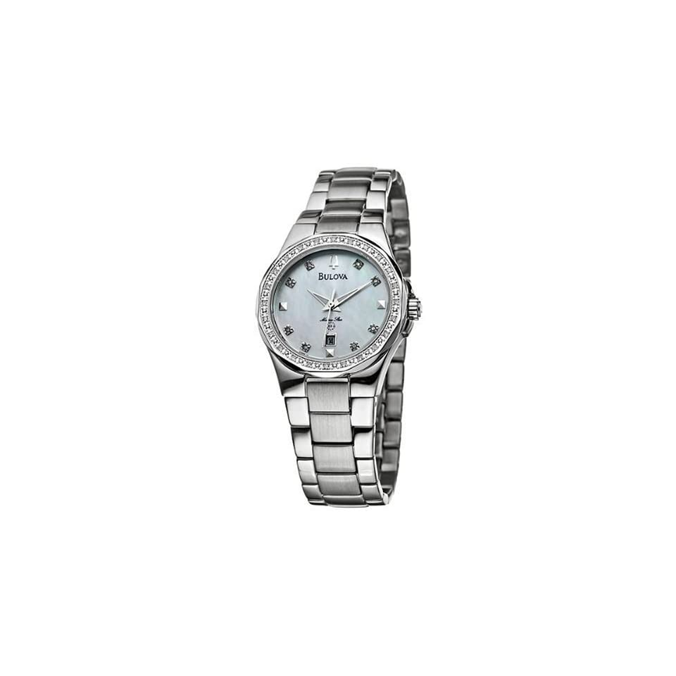 Bulova Womens 96R58 Diamond Marine Star Watch