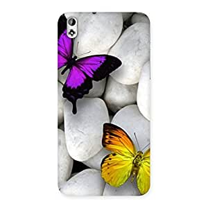 Butterflies white stones Back Case Cover for HTC Desire 816s