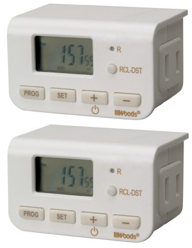 Woods 50007 Indoor Digital Lamp Timer