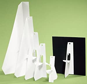 Lineco Self Stick Easel Backs white 12 in. pack of 25