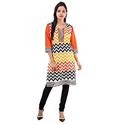 Kaash Women 's Straight Kurta_VRMTE07_L_Orange