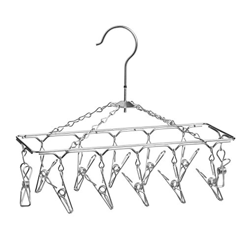 Honey-Can-Do DRY-01102 Clothes Drying Hanger Rack with 12 Clips, Chrome (Clip Clothes Dryer compare prices)