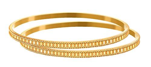 JFL - Traditional Ethnic One Gram Gold Plated Designer Bangle Set for Women & Girls