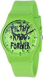 KR3W Men's K1341-GRFL Freshman Green Filthy Watch