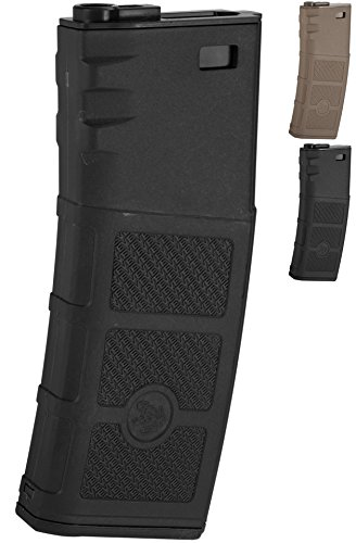 Evike G&P Evike High RPS 360rd Polymer HI-CAP Magazine for M4 M16 Airsoft AEG Rifles - Black - (42507) (M4 High Cap Magazine compare prices)