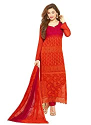 New Red & Maroon Nazneen Chiffon Designer Dress Material