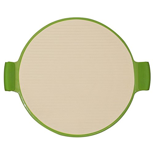 """Superstone / 14.25"""" Pizza Stone With Easy-Grip Silicone Handles"""