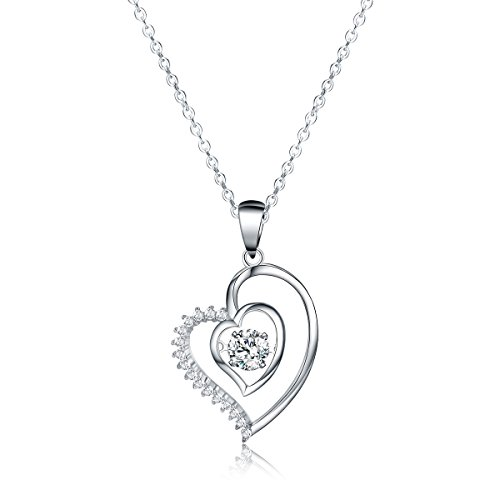 Sable Jewelry Pendant Necklace, Ripple of Hearts, Best Ideal Gift for Girl & Woman