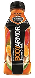 BODYARMOR Drink, Orange Mango, 16 Ounce (Pack of 12)