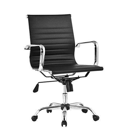 langria-comfortable-medium-back-ribbed-pu-leather-executive-chair-home-office-use-ergonomic-design-f