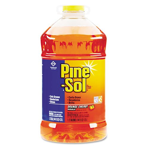 Clorox Products - Clorox - Pine-Sol All-Purpose Cleaner, Orange Scent, 144 oz. Bottle, 3/Carton - Sold As 1 Carton - Powerful formula makes up to 72 gallons per bottle. - Cleans, deodorizes and shines hard, nonporous surfaces: no-wax floors, tiles, walls, sinks, countertops, microwaves, refrigerators, stoves, range hoods, deep fryers and more. - Fresh fragrance. - Ideal for food-service or industrial environments. -